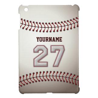 Cool Baseball Stitches - Custom Number 27 and Name iPad Mini Covers