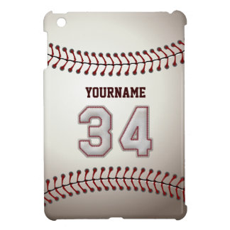 Cool Baseball Stitches - Custom Number 34 and Name Cover For The iPad Mini