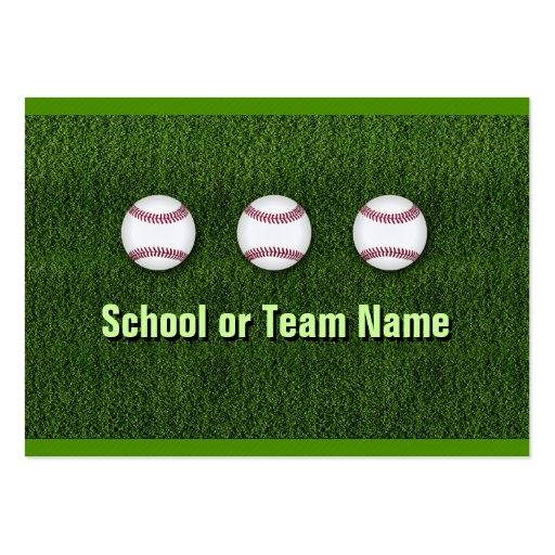 Cool Baseball Team - Coach Player Trainer Staff Business Card Templates
