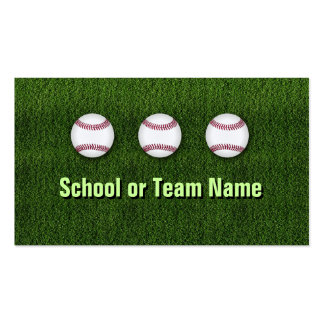 Cool Baseball Team - Coach Player Trainer Staff Double-Sided Standard Business Cards (Pack Of 100)