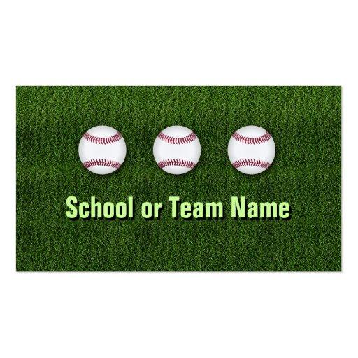 Cool Baseball Team - Coach Player Trainer Staff Business Card Template