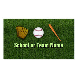 Cool Baseball Team - Coach Player Trainer Staff Pack Of Standard Business Cards