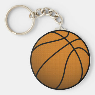 Cool Basketball and Custom Sports B Ball Basic Round Button Key Ring