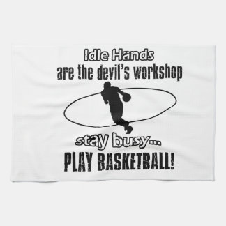 Cool basketball designs tea towel