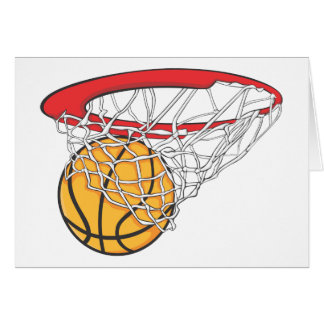 Cool Basketball Shoot in Ring Net Shirt Greeting Card