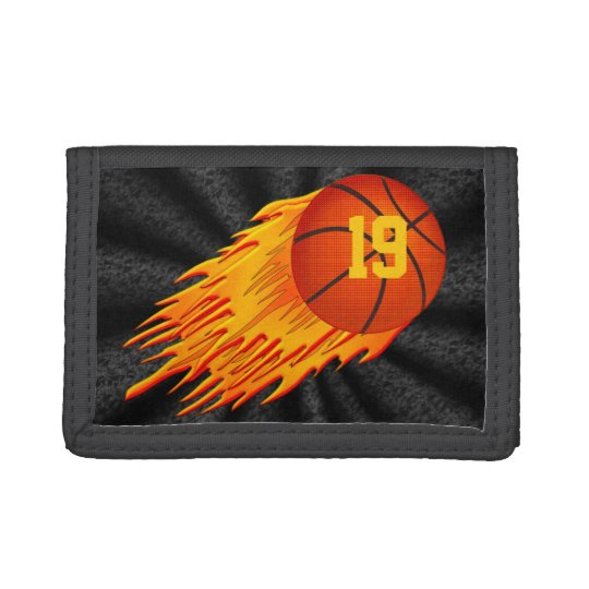 Cool Basketball Wallet w/Flaming Flying Basketball
