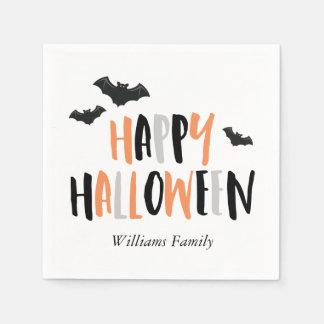 Cool Bats Halloween Party Paper Serviettes