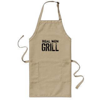 Cool BBQ chef apron for men | Real men grill