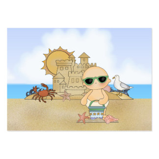 Cool Beach Baby ~ Neutral Pack Of Chubby Business Cards