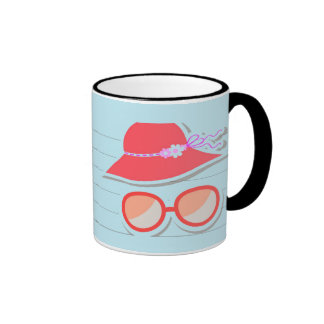 Cool Beach design Ringer Mug