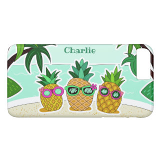 Cool Beach Pineapples custom name phone cases