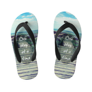 Cool Beach with Step Quote Flip Flops