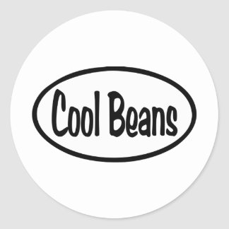 Cool Beans Oval Classic Round Sticker