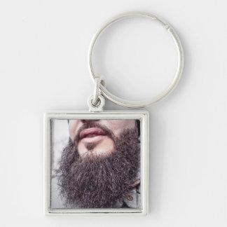 Cool Beard & Mustache key chain