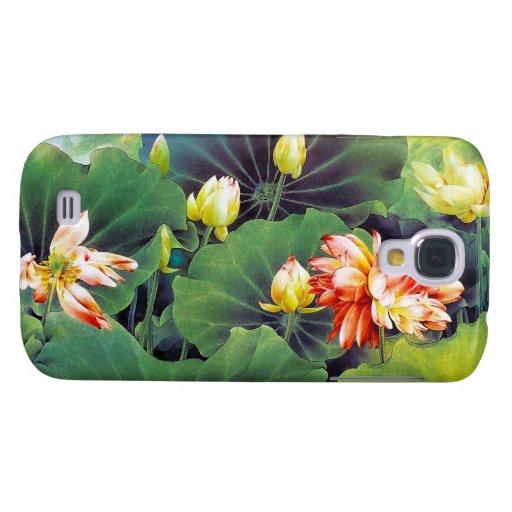 Cool beautiful chinese lotus flower green leaf art HTC vivid / raider 4G case