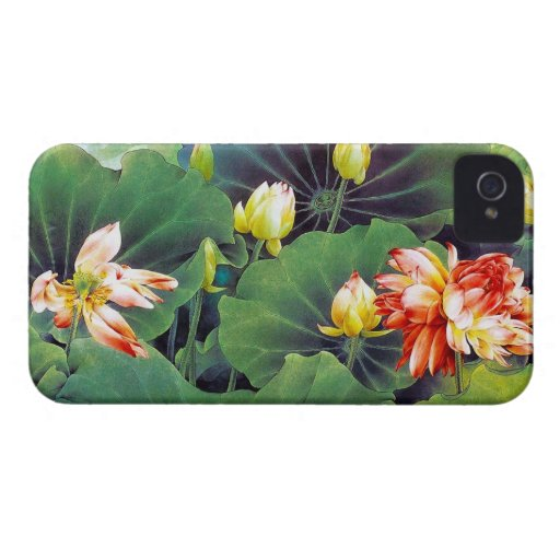 Cool beautiful chinese lotus flower green leaf art blackberry bold cases