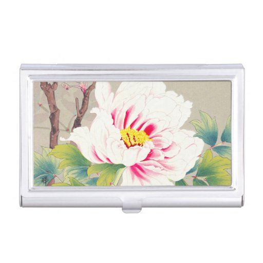 Cool beautiful chinese lotus flower green leaf art business card case
