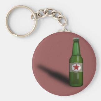 Cool Beer Bottle Design Basic Round Button Key Ring