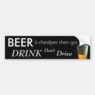 COOL BEER BUMPER STICKER
