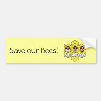 Cool Bees Bumper Sticker