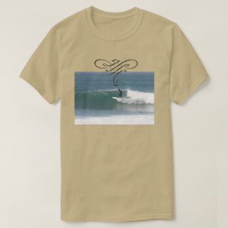 Cool Beige Surfing T shirt for men