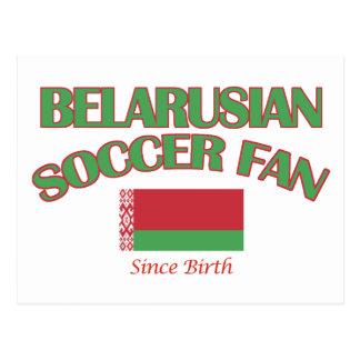 cool BELARUSIAN soccer fan DESIGNS Postcard