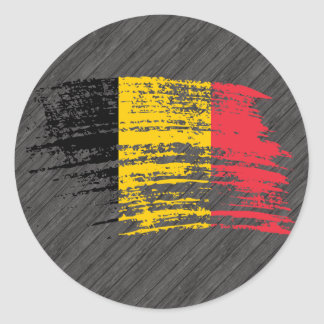 Cool Belgian flag design Classic Round Sticker