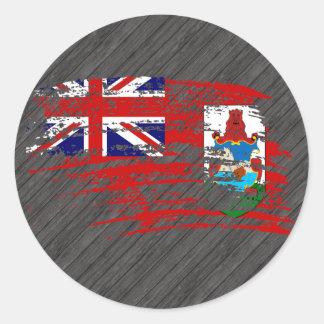 Cool Bermudan flag design Classic Round Sticker