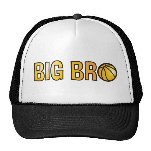Cool Big Bro Shirt - Basketball Theme Mesh Hat