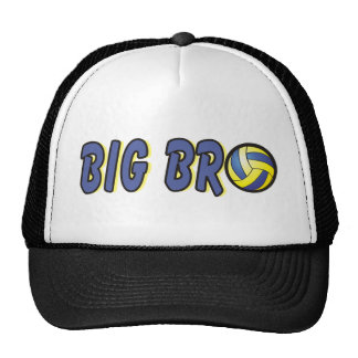 Cool Big Bro Shirt - Volleyball Theme Trucker Hat