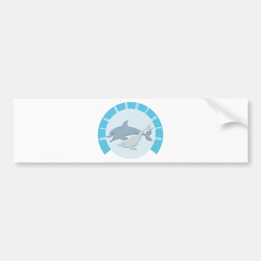 Cool Big Brother Shirt - Dolphin Theme Car Bumper Sticker