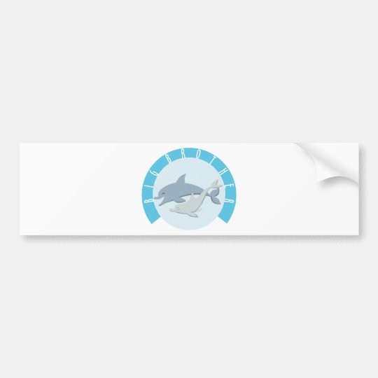 Cool Big Brother Shirt - Dolphin Theme Bumper Sticker