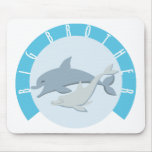 Cool Big Brother Shirt - Dolphin Theme Mouse Pads