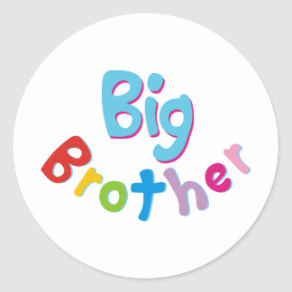Cool Big Brother Shirt Round Sticker
