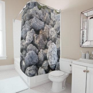 Cool Big Gray Rocks Photo Print Design Shower Curtain