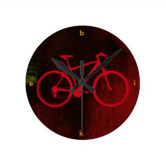 cool bike art wall clocks