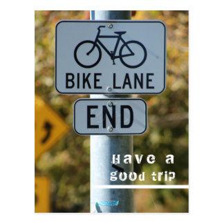 cool bike sign good trip postcard