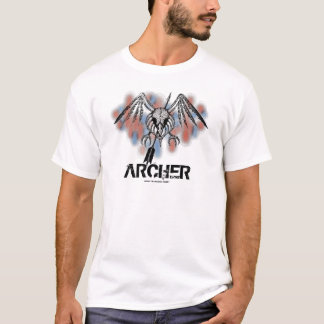Cool bird skull archer graphic art t-shirt design