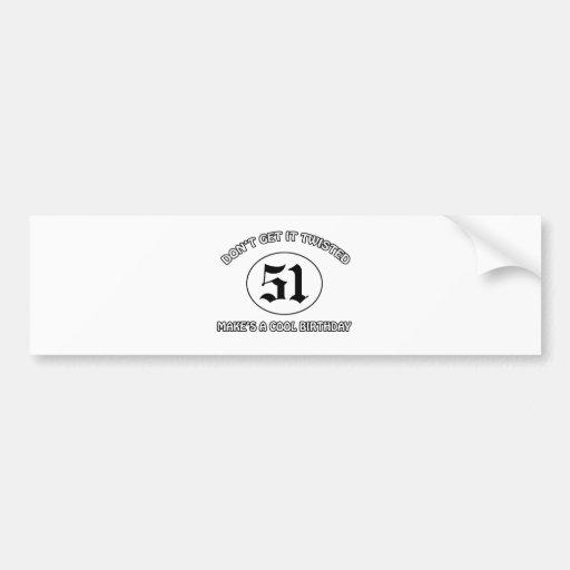 cool birthday design bumper sticker