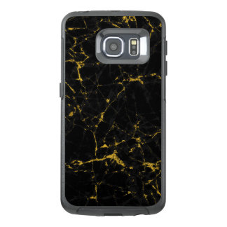 Cool Black And Gold Marble Stone Print