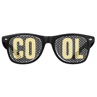 'COOL' Black and Gold Party Retro Sunglasses
