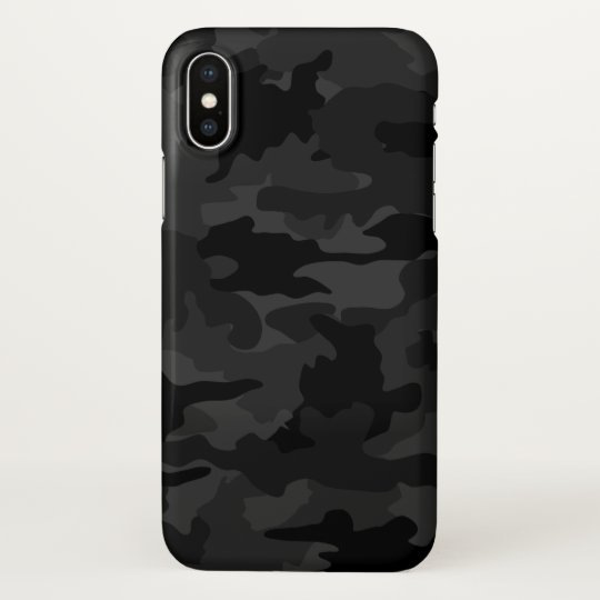 Cool Black and Grey Camouflage Camo Pattern Glossy