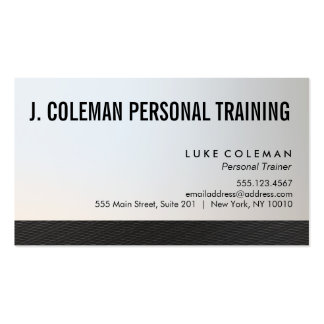 Cool Black and Silver Personal Trainer 2 Pack Of Standard Business Cards