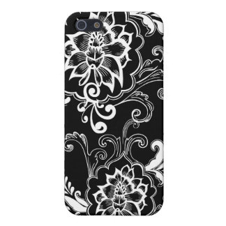 Cool black and white floral graphic design iPhone 5/5S case