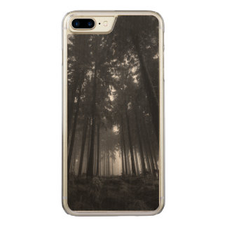 Cool Black and White Forest Fog Silence Carved iPhone 8 Plus/7 Plus Case