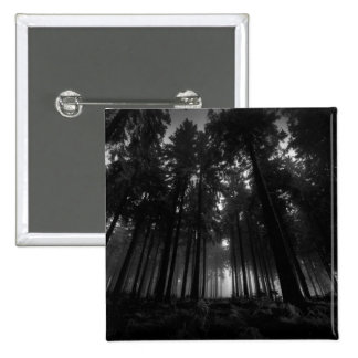Cool Black and White Forest Fog Silence Gifts 15 Cm Square Badge