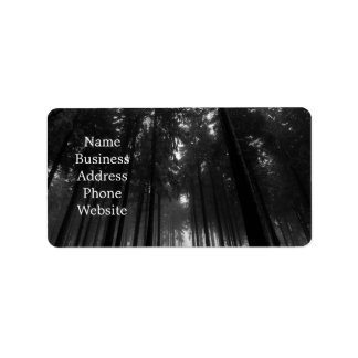 Cool Black and White Forest Fog Silence Gifts Address Label