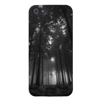 Cool Black and White Forest Fog Silence Gifts Case For iPhone 5/5S