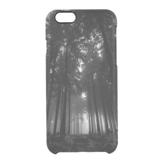 Cool Black and White Forest Fog Silence Gifts Clear iPhone 6/6S Case