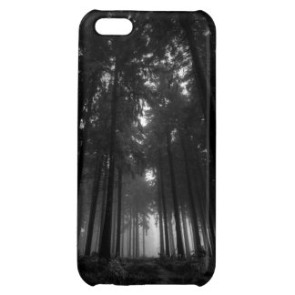 Cool Black and White Forest Fog Silence Gifts Cover For iPhone 5C